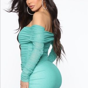 Teal Fashion Nova Dress! 👗👗